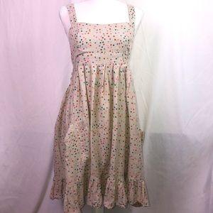 Topshop Polkadot Printed Sleeveless Dress